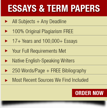 CUSTOM ESSAY WRITING SERVICES 100%